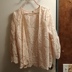Ladies long sleeve top to wear over a blouse